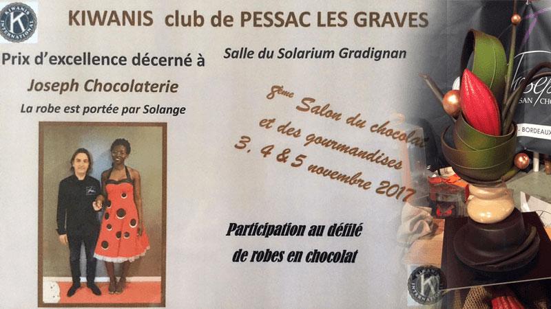 Fréderic Joseph s'est vu décerné le prix d'excellence pour la robe au chocolat portée par solange aux 8ème salon du chocolat