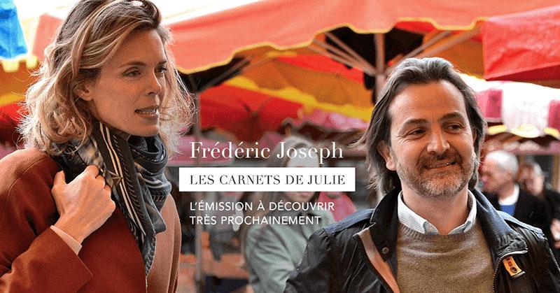 Fréderic Joseph en tournage avec Julie Andrieu dans les carnets de Julie sur france 3