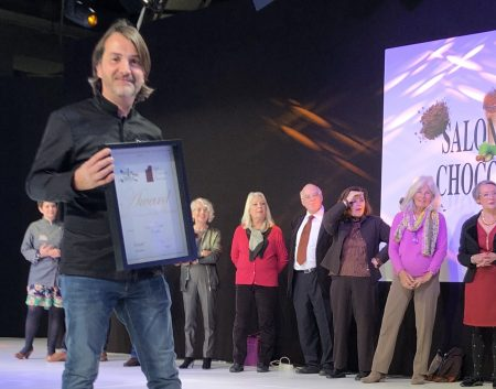 Fréderic Joseph obtient l'award de l'harmonie & des saveurs au mondial du chocolat