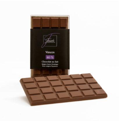 Tablette de chocolat au lait Vinces