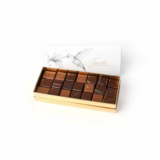 Grand coffret colibri 42 chocolats - Chocolaterie Joseph
