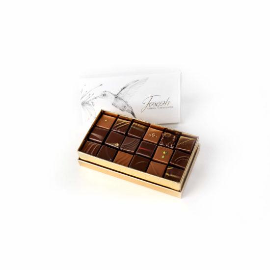 Petit coffret colibri 36 chocolats - Chocolaterie Joseph