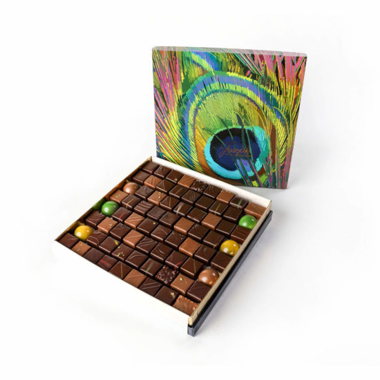 Coffret Plume de Paon 71 chocolats - Chocolaterie Joseph