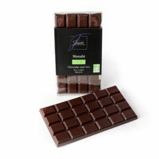 Tablette Manabi chocolat noir 72,5% - Chocolaterie Joseph