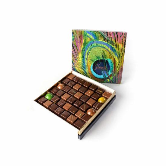 Coffret Plume de Paon 42 chocolats - Chocolaterie Joseph