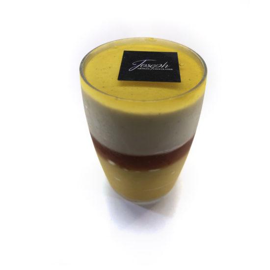 Verrine crème glacée exotique