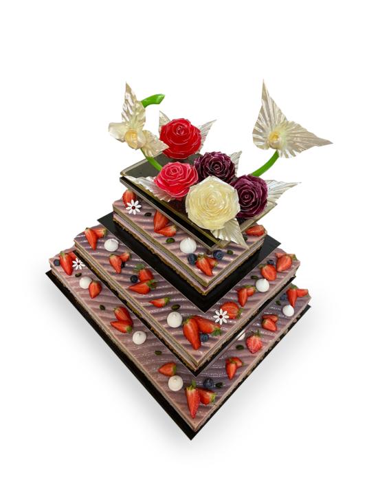 Gâteau mariage chocolat